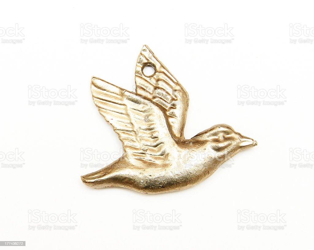 Vintage Bird Ornament Pendant royalty-free stock photo