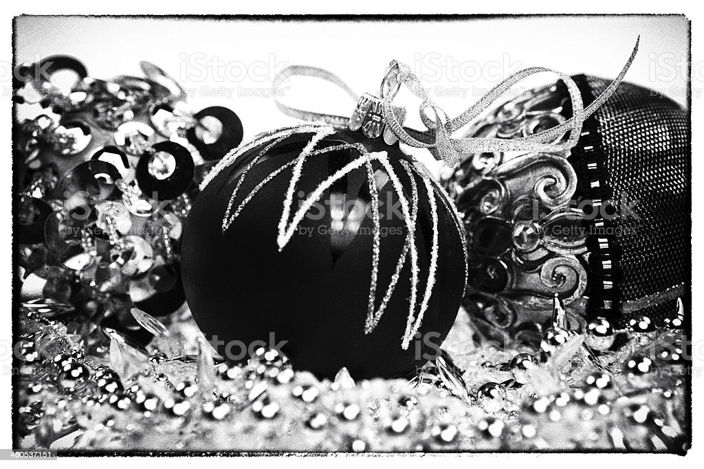 Vintage Black And White Christmas Stock Photo Download