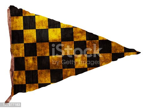 istock Vintage black and yellow Checkered Pennant (XXL) 172377183
