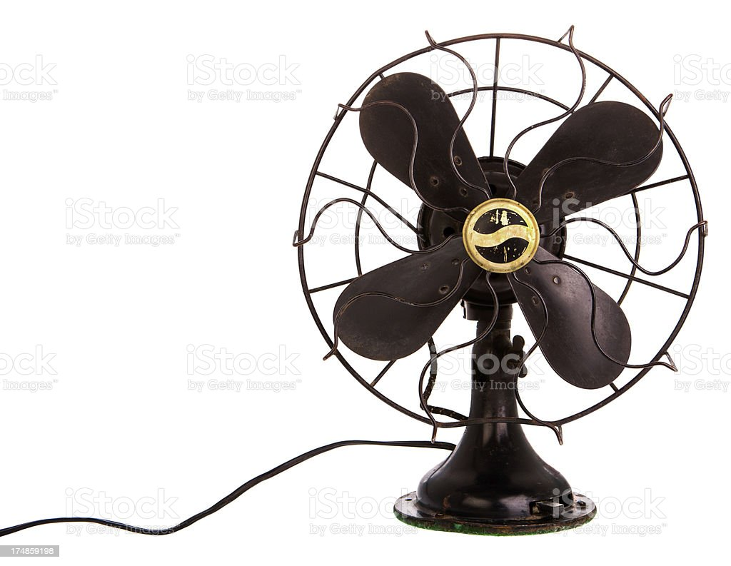 vintage black fan stock photo