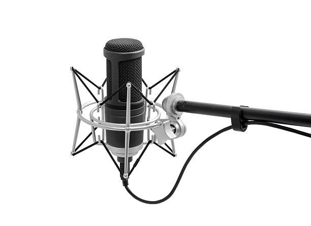 vintage black microphon - radio kultur stock-fotos und bilder