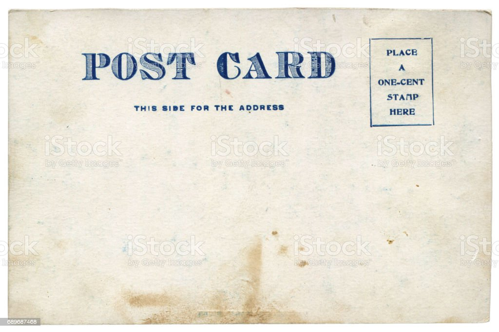 vintage blank american postcard background in early 20th century royalty free stock photo
