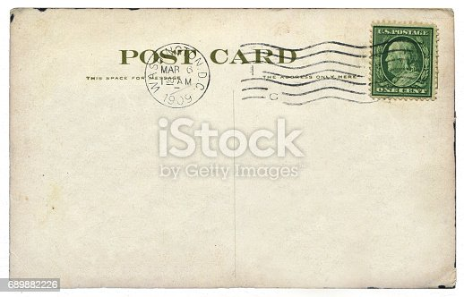 istock vintage blank American postcard sent from Washington D.C. in early 20th century 689882226