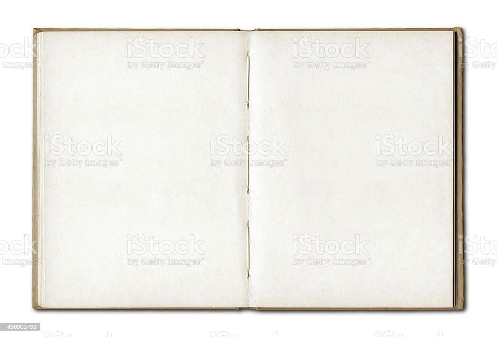 Vintage leere öffnen Sie Notizbuch mit Ledereinband – Foto