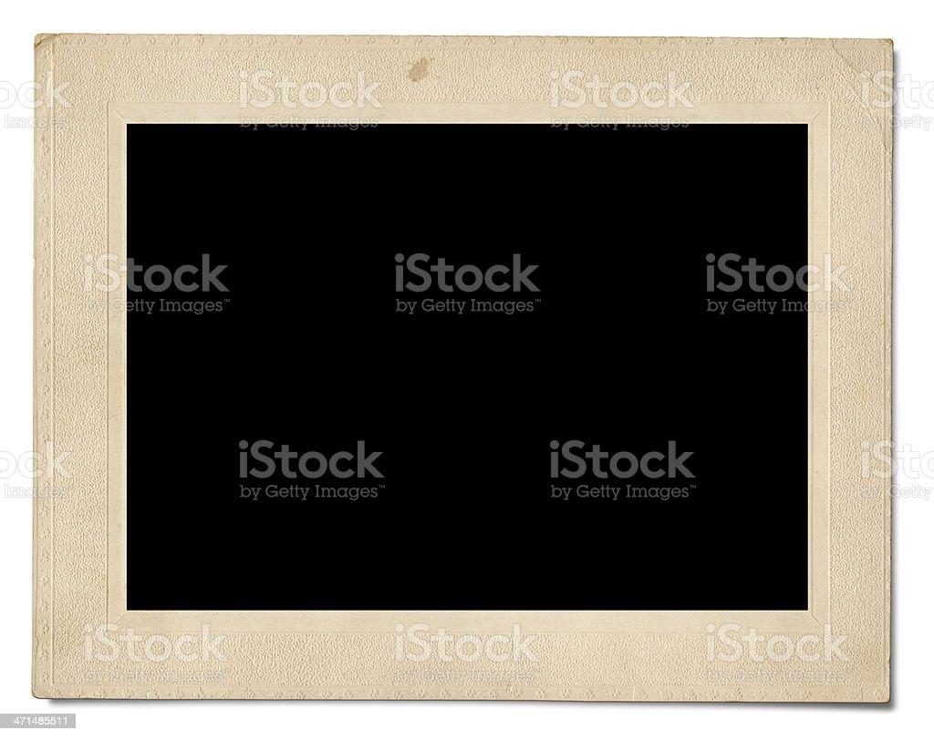 Vintage blank photo royalty-free stock photo