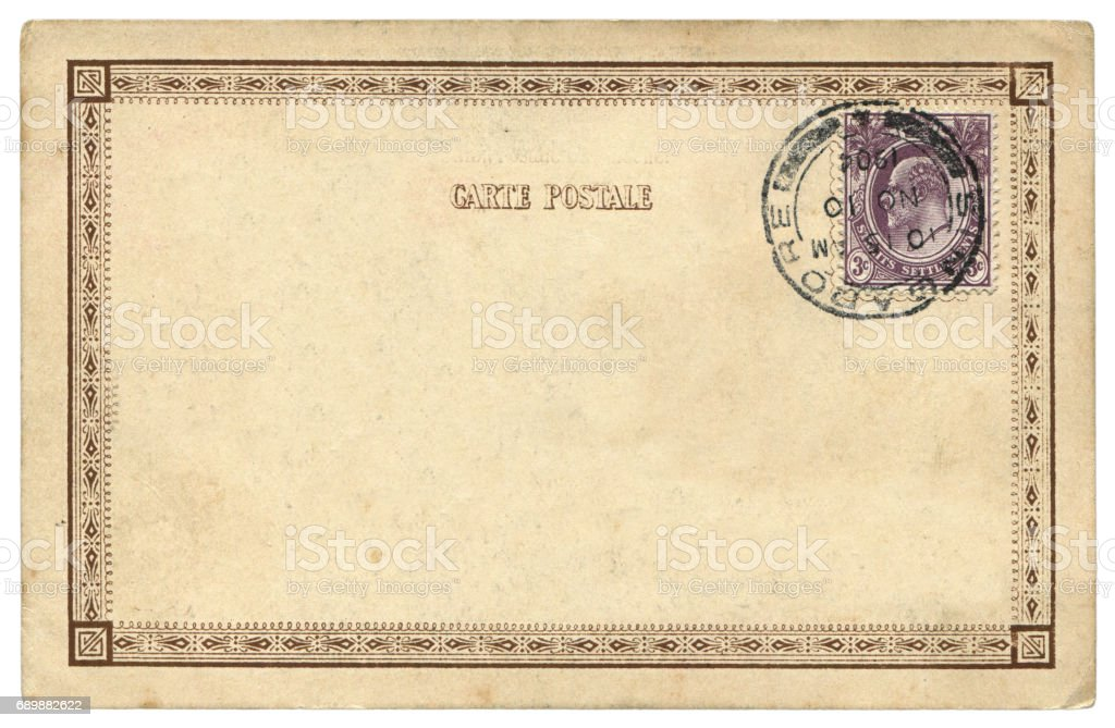 vintage blank singapore postcard background in early 20th century royalty free stock photo