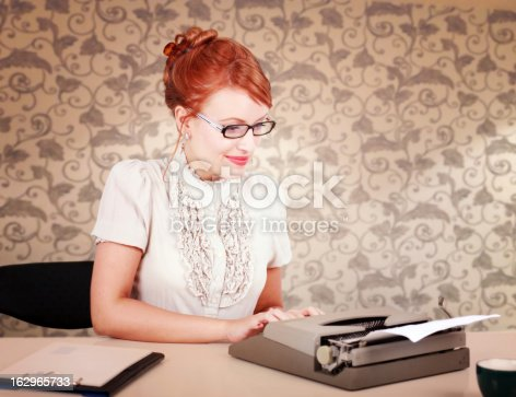 istock Vintage blogger at home 162965733