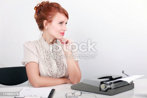istock Vintage blogger seeking inspiration 174900476