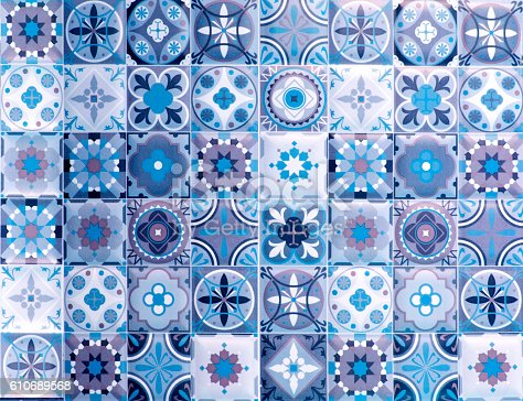 Vintage Blue Ceramic Tiles Wall Decorationturkish Ceramic Tiles ...