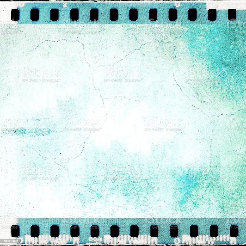 Tira De Película Vintage Azul Agrietado Bastidor - Fotografía de ...