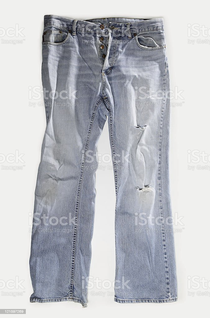 Vintage Blue Jeans royalty-free stock photo