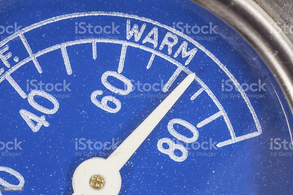 Kühlschrank Thermometer : Vintageblau kühlschrank thermometer makrodetailarbeit stockfoto