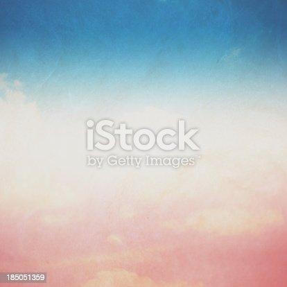 istock Vintage Blue Sky 185051359