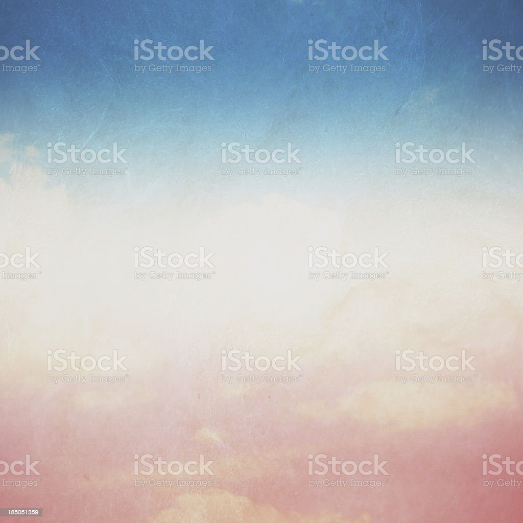 Vintage Blue Sky stock photo