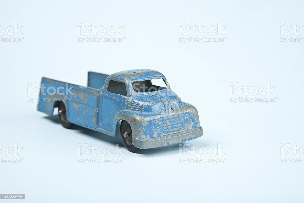 Vintage Blue Toy Truck royalty-free stock photo