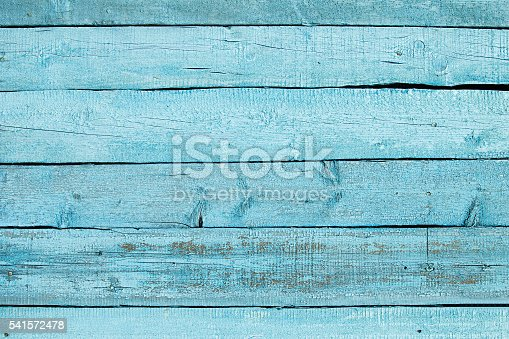 istock Vintage blue wooden background. Old weathered aquamarine board. Wood backgriund. 541572478