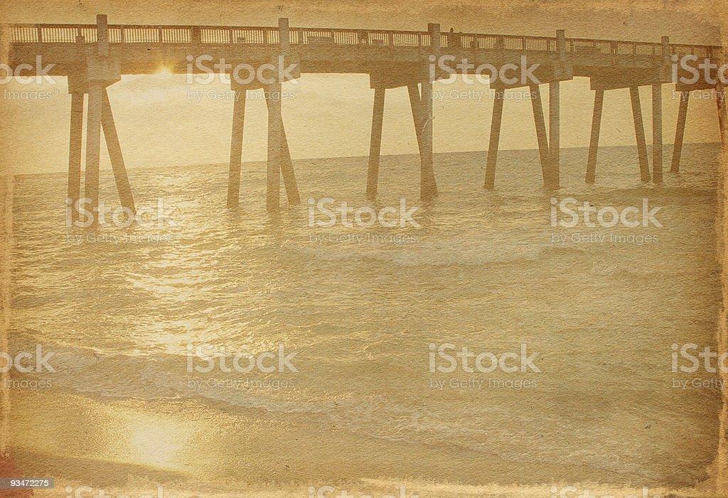 Vintage Boardwalk royalty-free stock photo