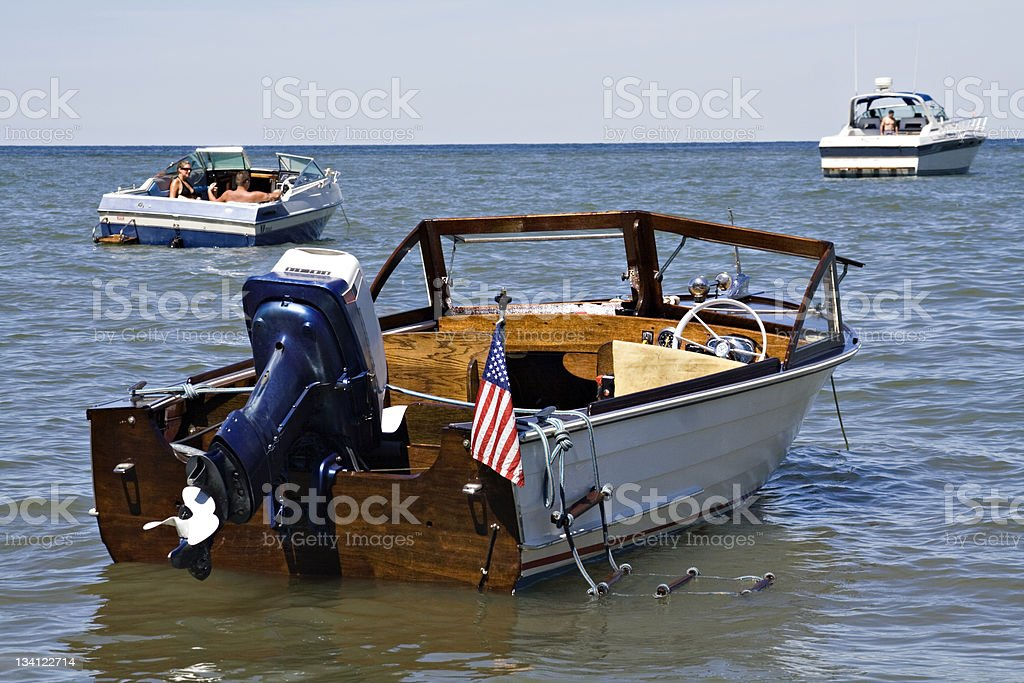 Vintage Boat stock photo