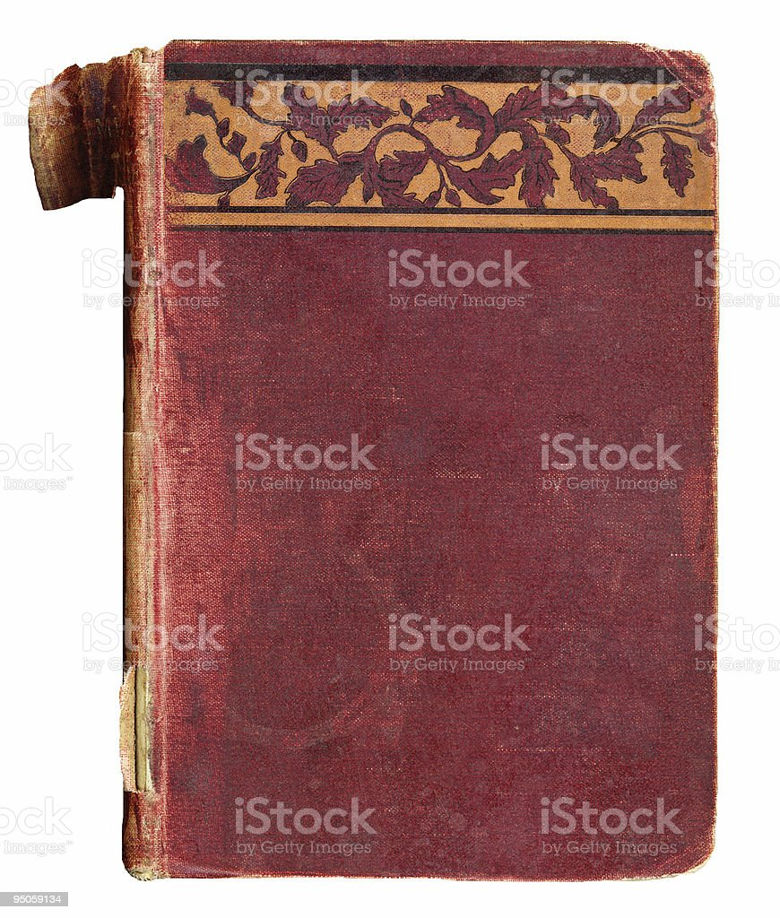 Vintage Book Cover with Decorative Trim royalty-free stock photo