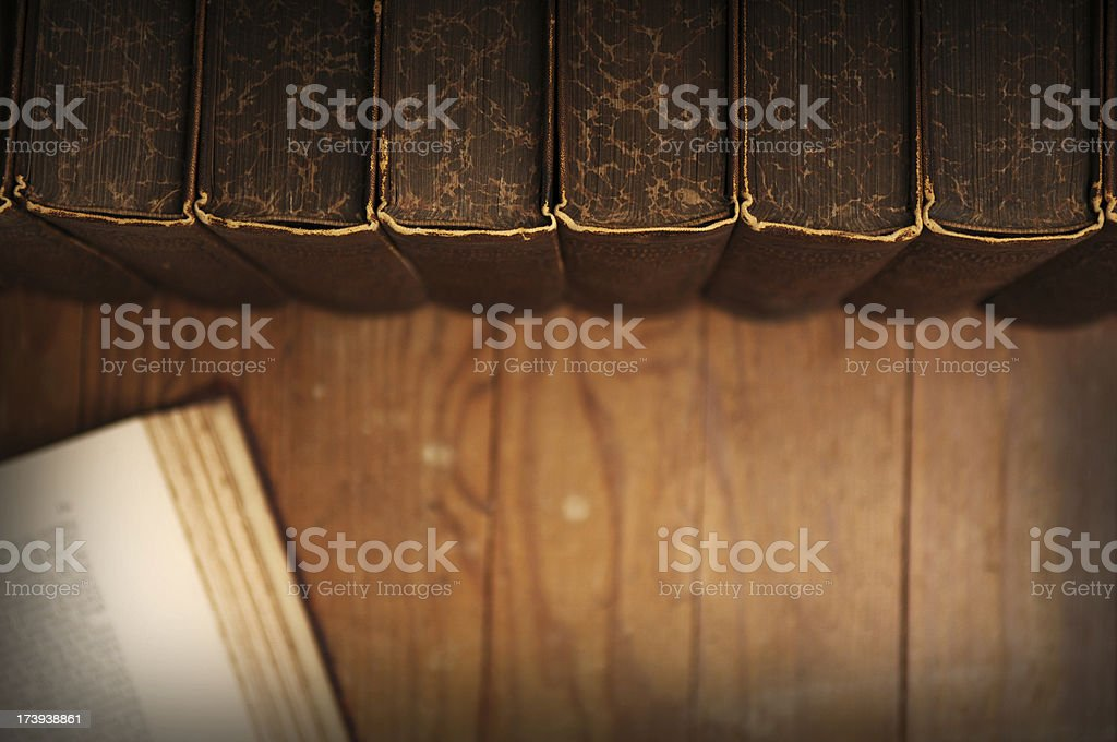 Vintage Book Set - Research royalty-free stock photo