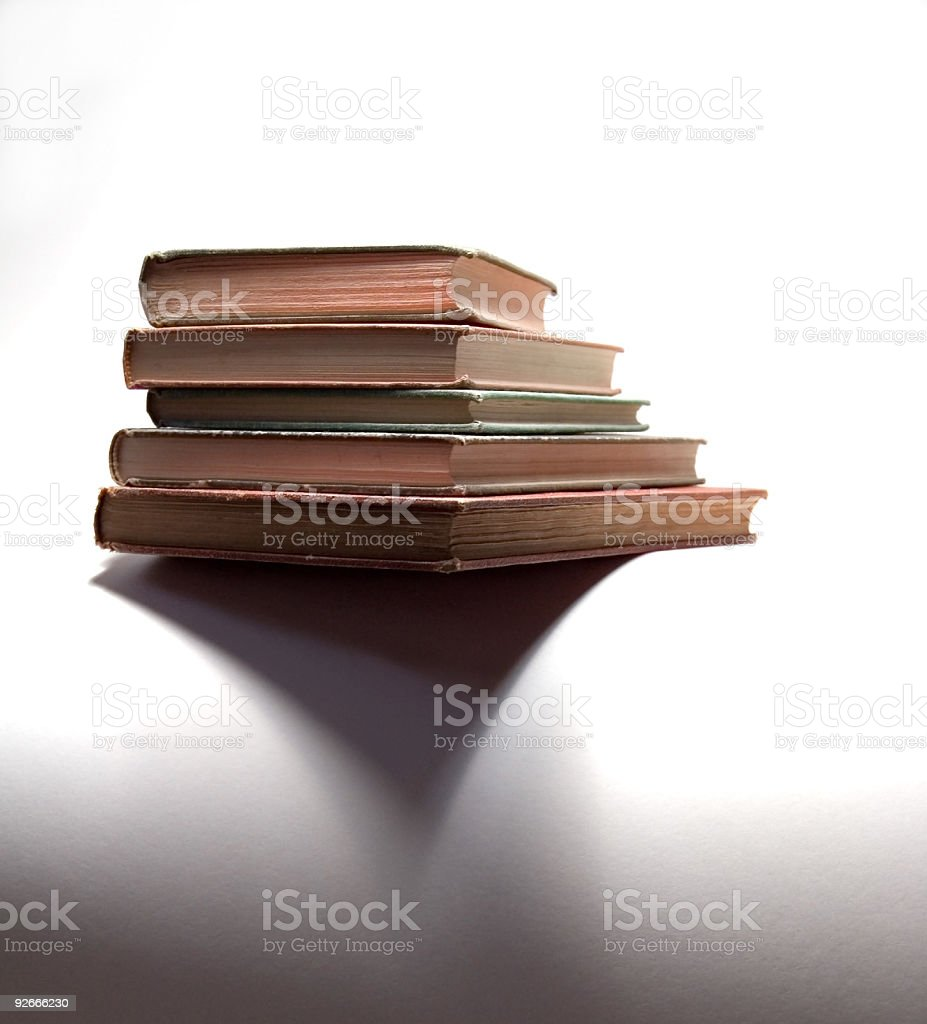 Vintage Books and Shadow royalty-free stock photo