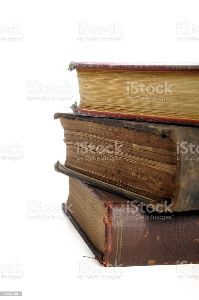 Vintage Books in a Pile royalty-free stock photo