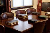Vintage books on table