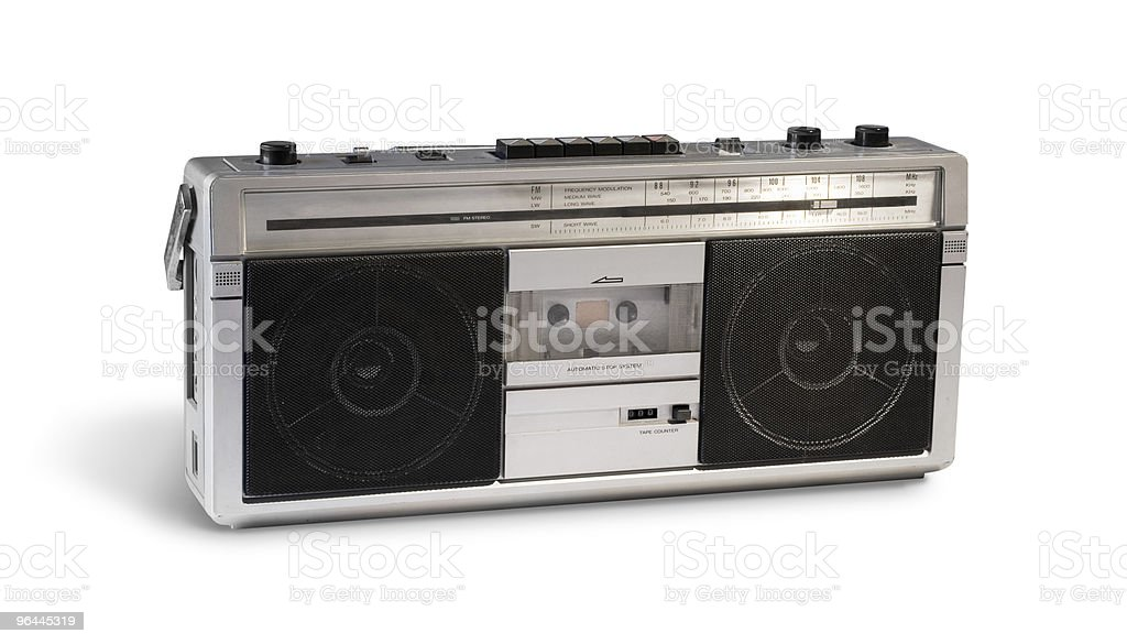 Vintage Boom box royalty-free stock photo