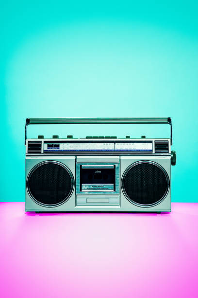Vintage Boombox Personal Stereo stock photo