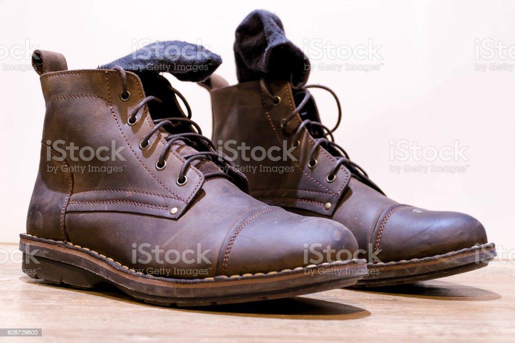 2262828985 Zapatos Bota Vintage Sobre Fondo Blanco Foto de stock y más banco de ...