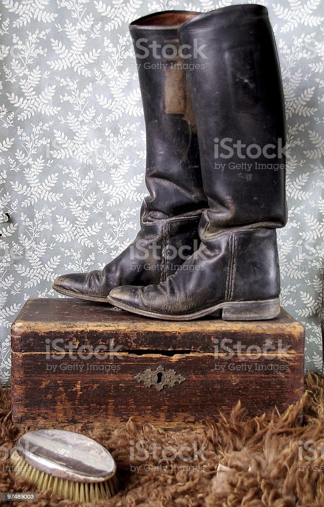 Vintage boots royalty-free stock photo