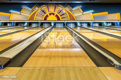 Art Deco Bowling alley.