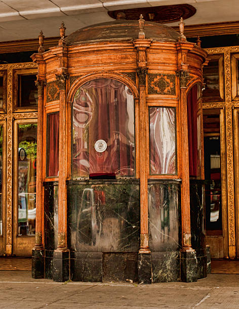 vintage bilheteria cabine - foto de acervo
