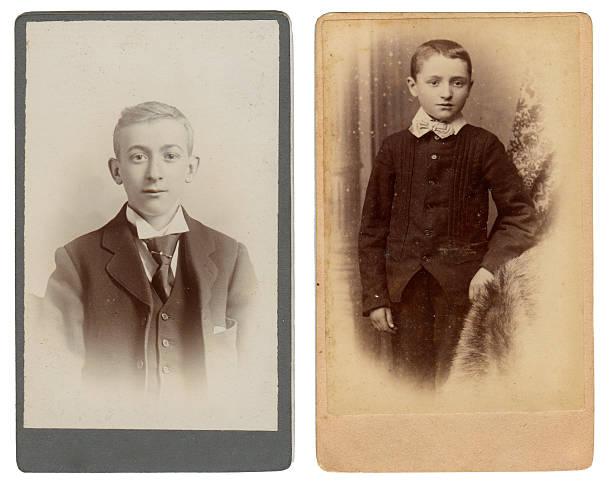 Vintage boys stock photo