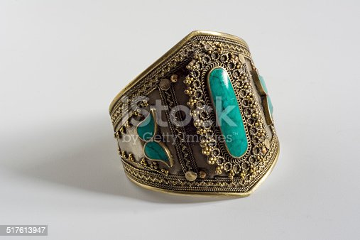 vintage bracelet with turquoise stone