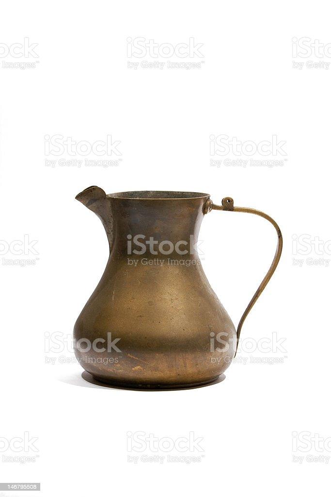 Vintage brass jug royalty-free stock photo