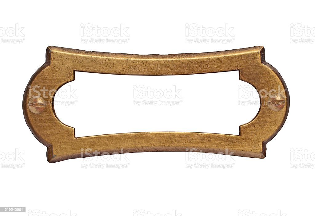 vintage brass name plate stock photo