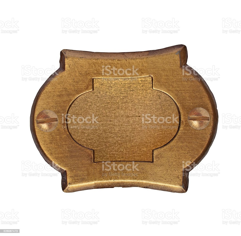 vintage brass number plate stock photo
