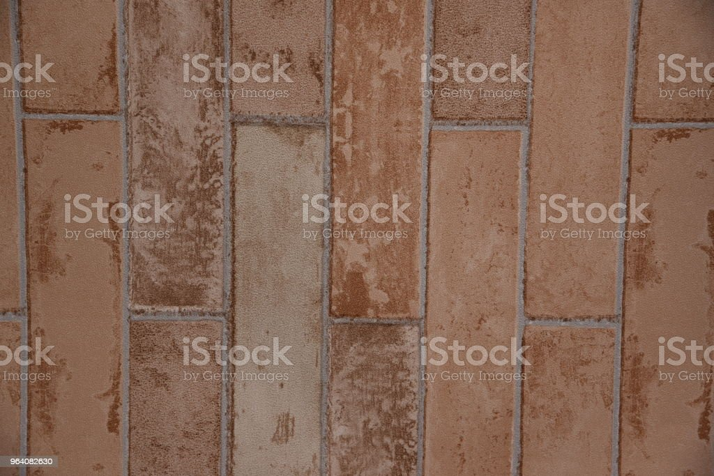 vintage brick patterned wallpaper. - Royalty-free Abstract Stock Photo