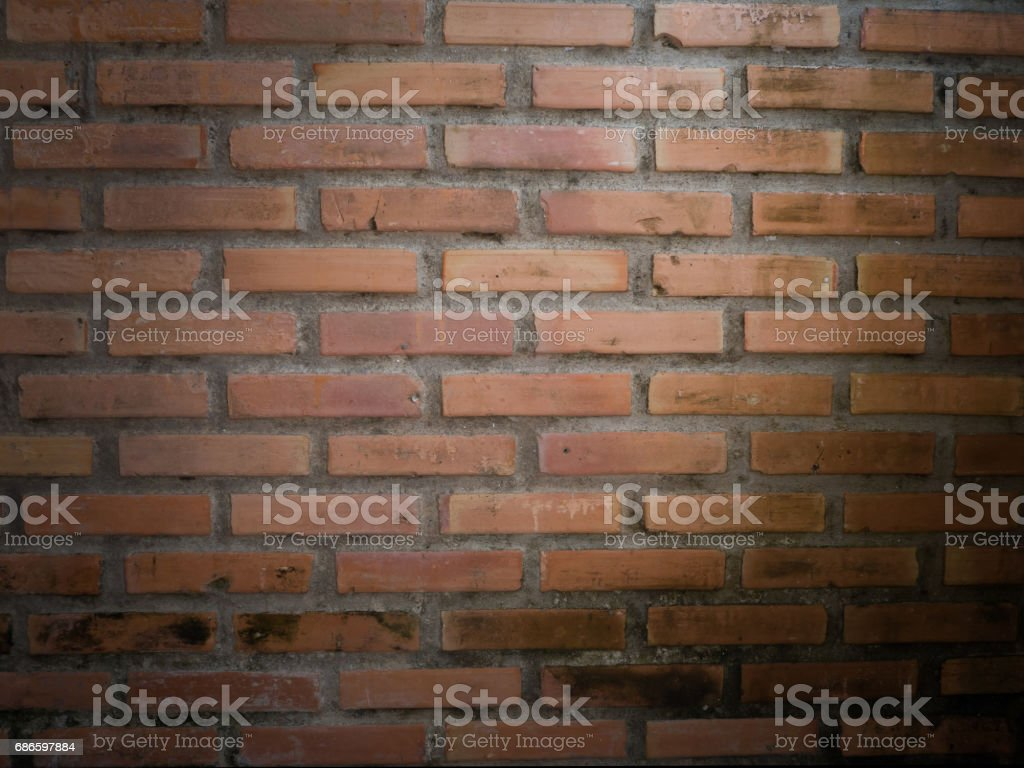 vintage brick wall texture background for text with spot light effect. royalty-free stock photo