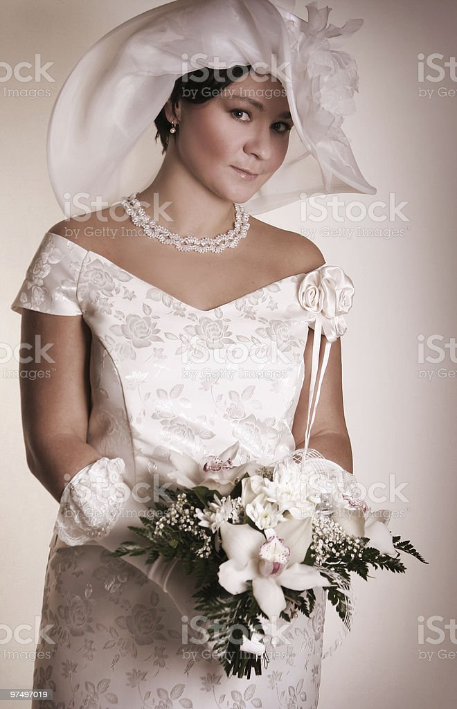 vintage bride royalty-free stock photo