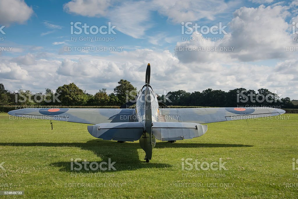 Vintage British Hawker Sea Hurricane stock photo