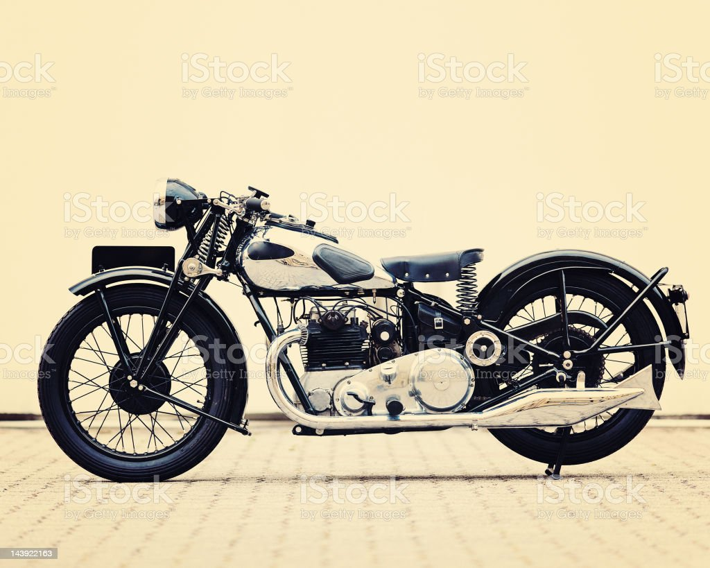 vintage british motorcycle stock photo