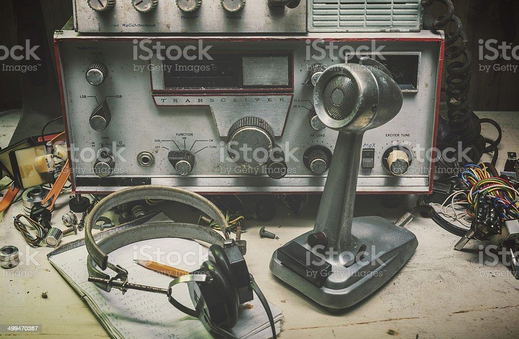 Vintage Broadcasting stock photo