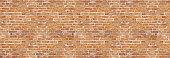Vintage broken red bricks old wall background textures.