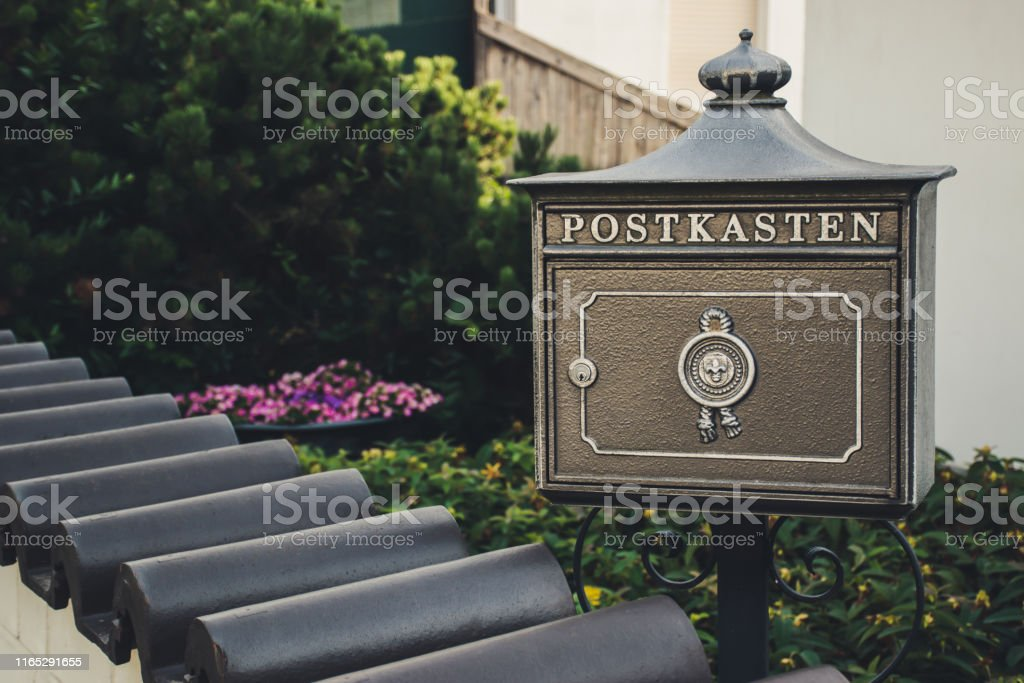 Picture of: Vintage Bronze German Mailbox Outside The Private House Translation Mailbox Stock Photo Download Image Now Istock