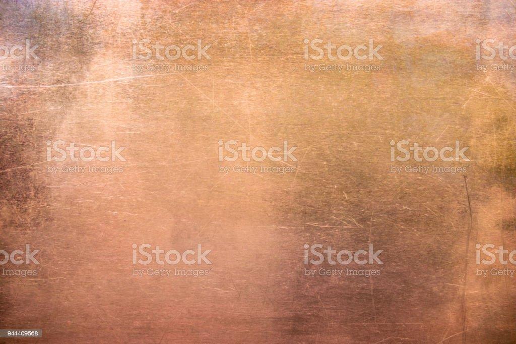 老式青銅或銅板, 有色金屬板作為背景 - 免版稅俄羅斯圖庫照片
