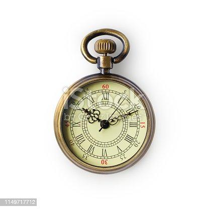 istock Vintage bronze pocket watch 1149717712