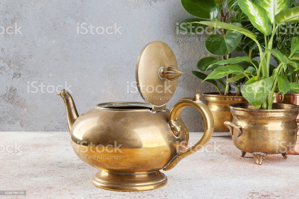 Vintage Bronze Pot
