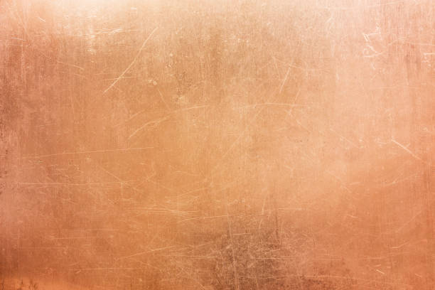 Vintage bronze texture, background of old metal plate stock photo